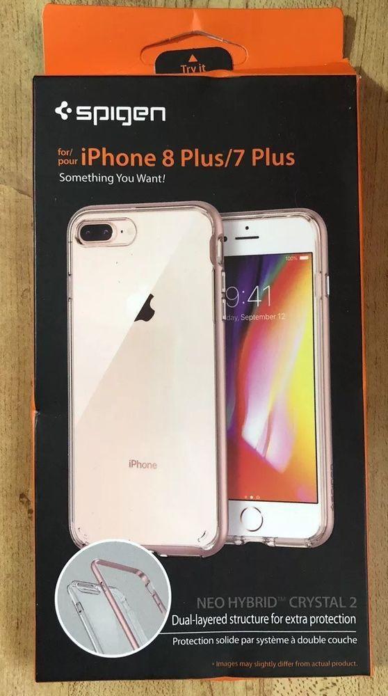 size 40 9b066 48cdb Spigen Neo Hybrid Crystal iPhone 8 Plus Case/iPhone 7 Plus Case Rose ...