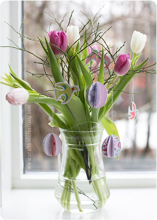 Pappersägg till påsk – Paper eggs for Easter