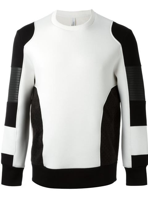 Neil Barrett colour block sweatshirt