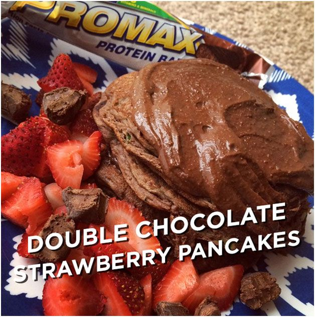 Double Chocolate Strawberry Pancakes #MAXMunchies
