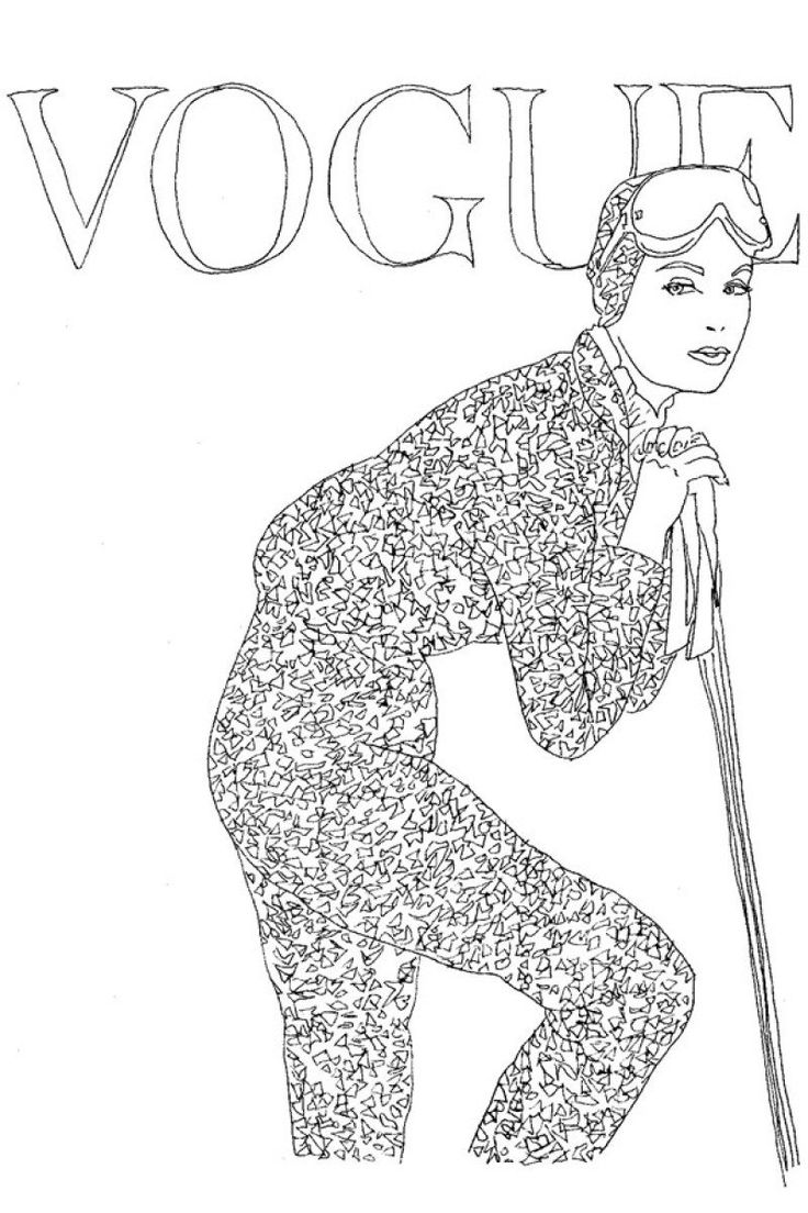 Coloring book yves saint laurent - On Sale Today The Vogue Colouring Book Has Arrived