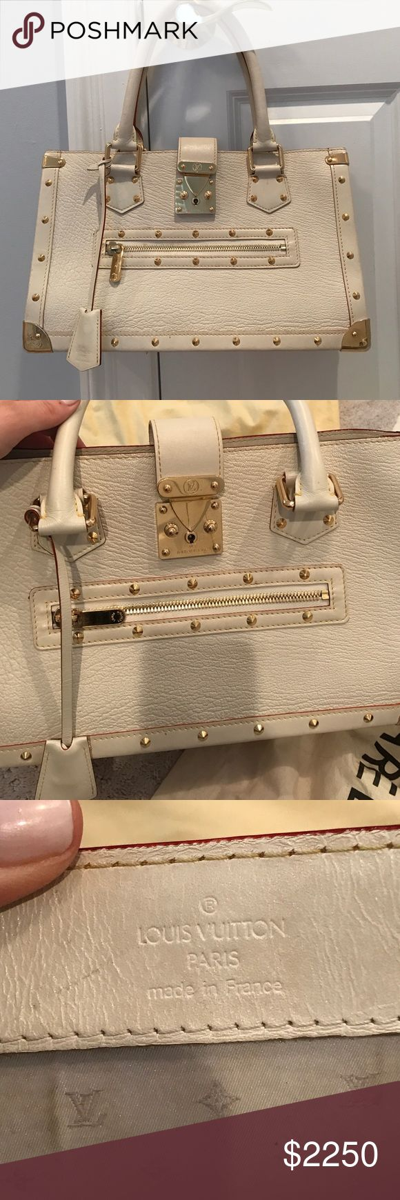LOUIS VUITTON SUHALI 🌹 WHITE LOUIS VUITTON AUTHENTIC SUHALI WITH DUST BAG, BOX, AND SHOPPING BAG THIS BAG IS NO LONGER IN PRODUCTION - worn by celebrities such as Jessica Simpson - Caroline Manzo - Kim Kardashian - Carmine Electra ** smoke free pet free Louis Vuitton Bags Shoulder Bags