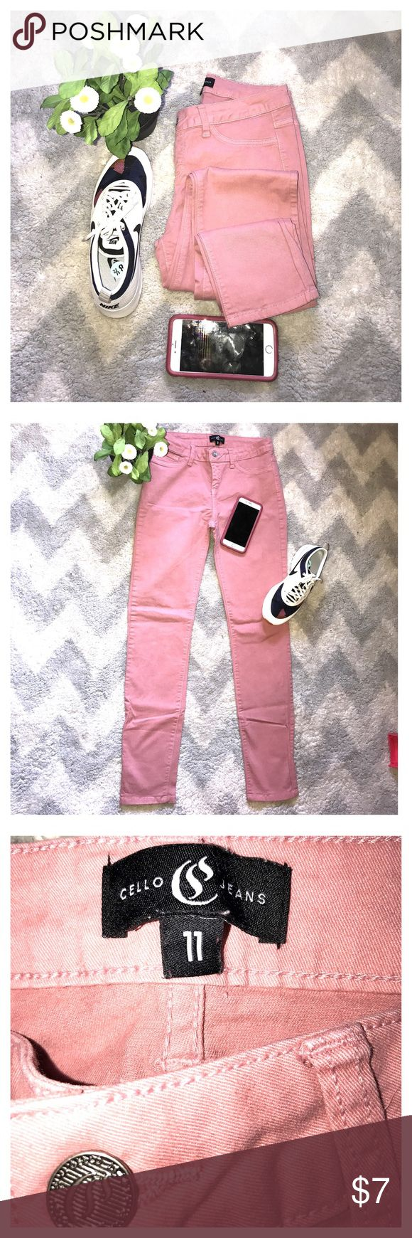 Cello peach skinny jeans Cello peach skinny jeans  clean inside and out good condition inseam 30 size 11 cello jeans Jeans Skinny