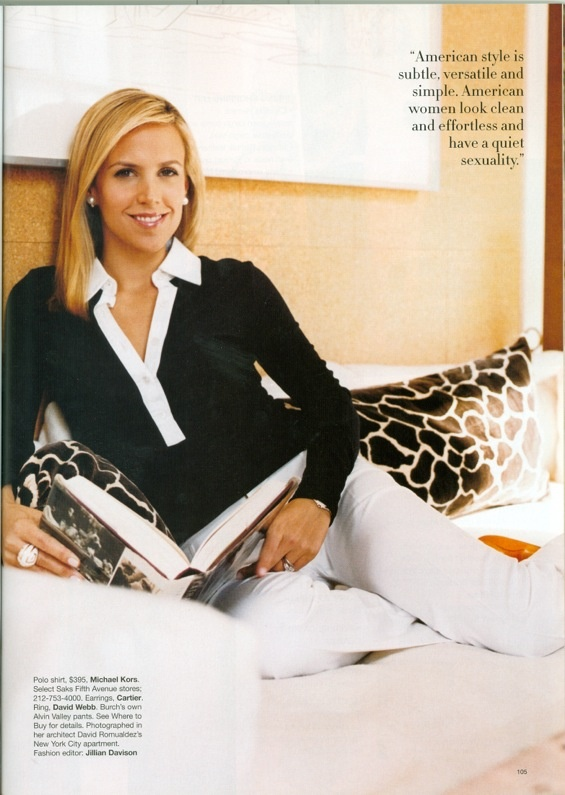 Designer @Tory Burch wears Alvin Valley pants.