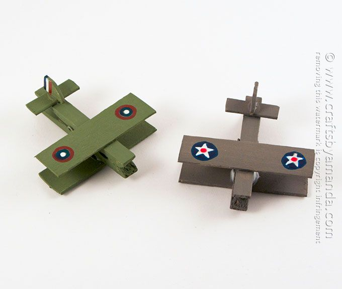 Show your support for our military by making these clothespin airplanes made to look like vintage war planes! Kids will …