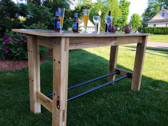 Reclaimed Oak Farmhouse Table Pub Height By Rusticby3