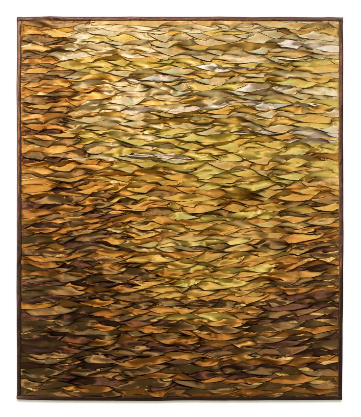 Stunning Amber Sea by Tim Harding Fiber Wall Hanging