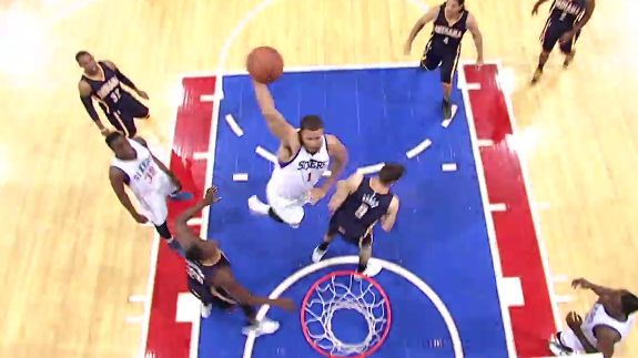 JaVale McGee Arrives In Philly With a Smash