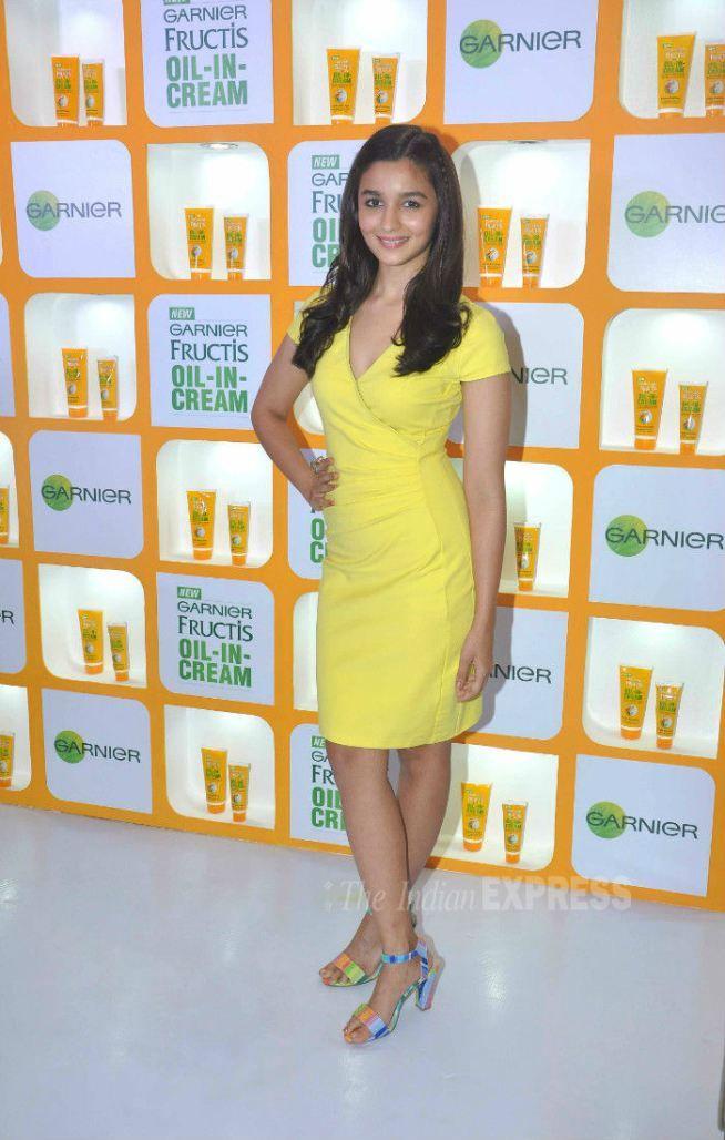 Alia Bhatt at an event to promote Garnier Fructis Oil-In-Cream.
