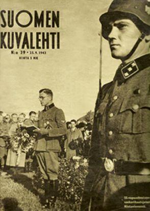 Finnish Waffen-SS volunteers at the Hietaniemi cemetary in Finland.