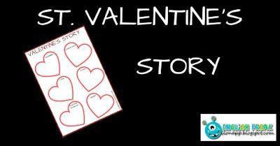 English Freak   Blog o nauczaniu języków obcych: ST. VALENTINE'S DAY STORY (PRINTABLE)