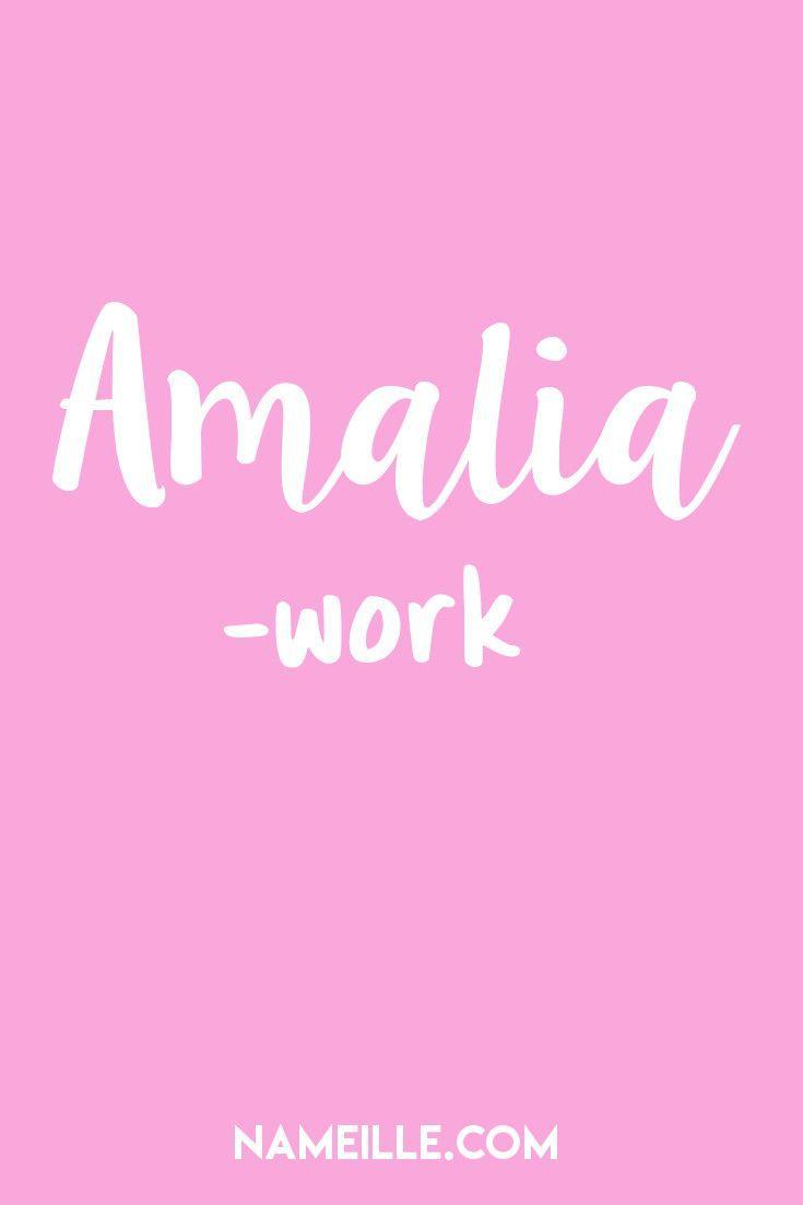 50 Beautiful Italian Baby Names for Girls I Amalia I Nameille.com