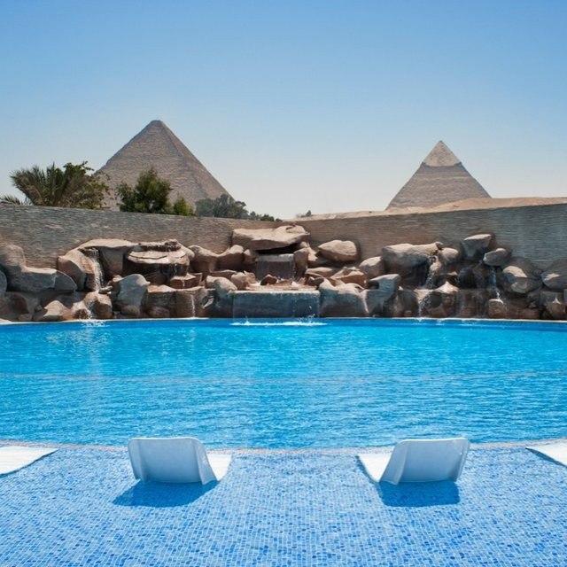 Cairo.  Think I'll just use the PYRAMIDS as decoration, no big deal...amazing.