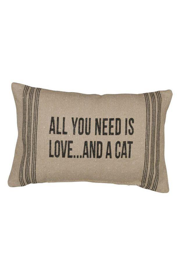 Rustic A Cat (D) Accent Pillow