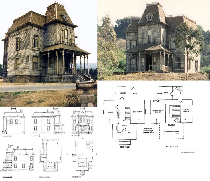 42 best images about psycho movie house on pinterest for Norman bates house floor plan