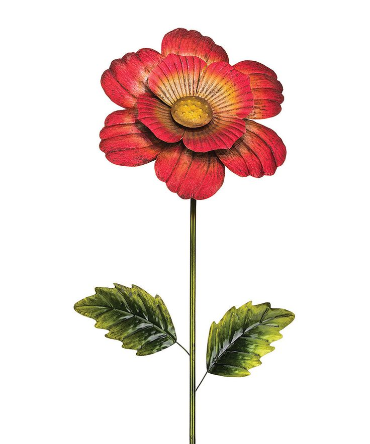 Regal Art And Gift 46 In. Red Flower Stake   Add A Bold Pop Of Color To  Your Yard Any Time Of Year With The Regal Art And Gift 46 In.
