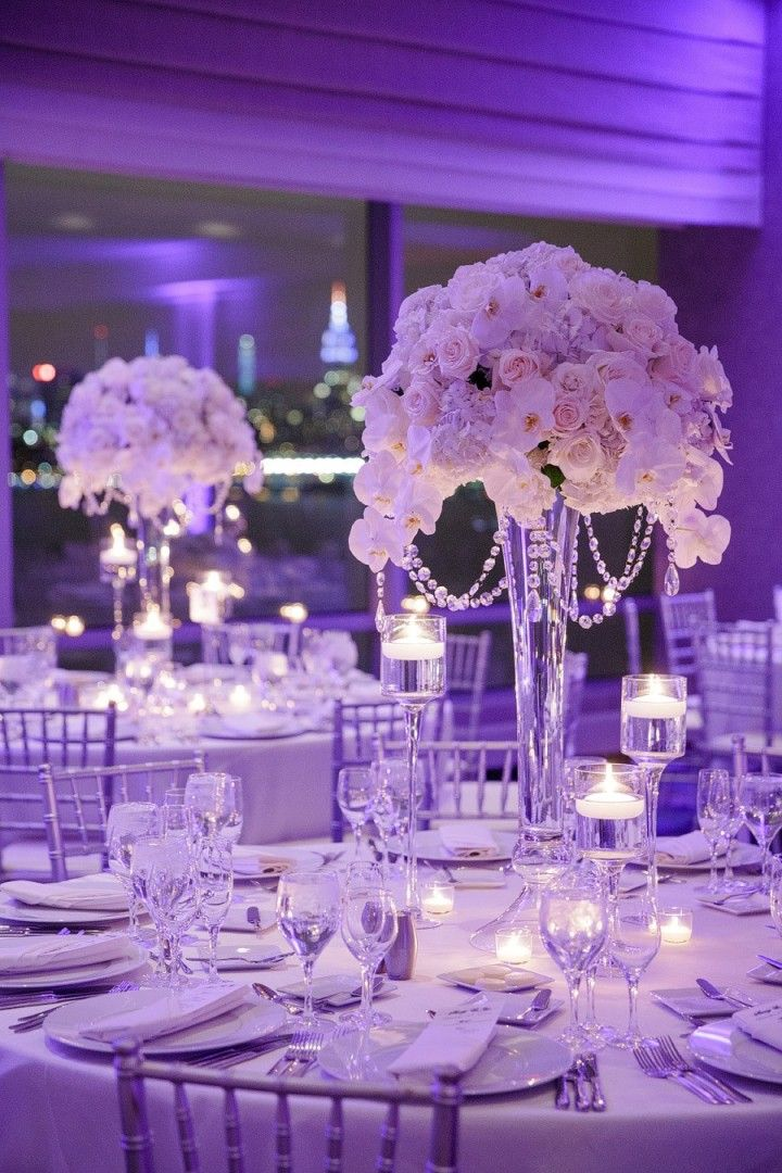 Breathtaking New Jersey Wedding Tall Centerpiece