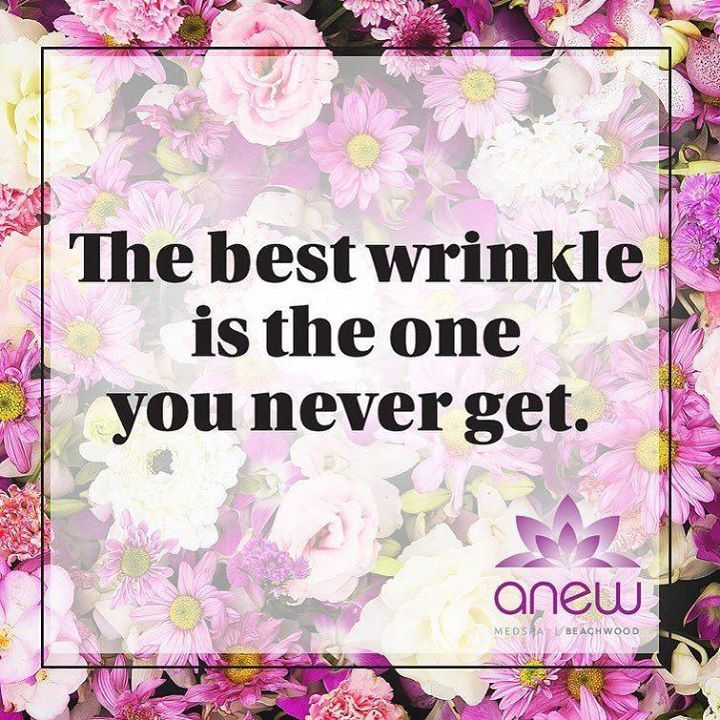 Who needs wrinkles? Come to Anew and let us get rid and prevent the wrinkles of today and tomorrow. #ANEWmedspa #anewyou #anewyou2017 #ANEW #anewbeginning #anewbeachwood #botox #fillers #juvederm #restylane #silkpeel #dermalinfusion #skincare #medspa #hairremoval #underarmsweating #coolsculpting #fatreduction #bodycontouring #freezethefat #freezefat #lips #loveyourlips http://ift.tt/2no0X9q