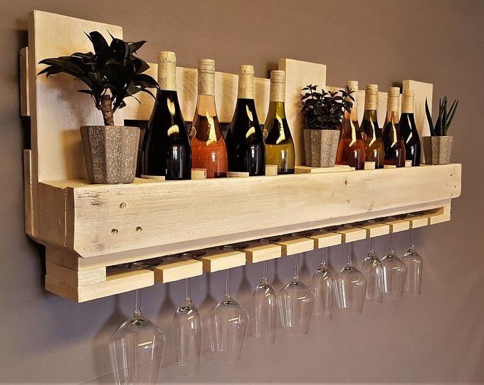 Wine Rack Vintage Bottle Shelf Flamed Wall Shelf Shelf Shelving