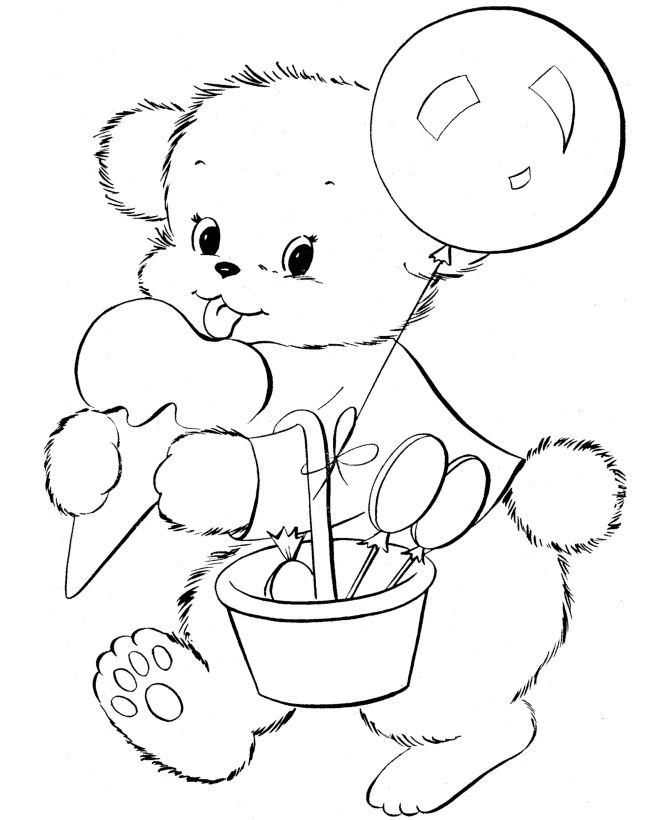 15 best Teddy bears colourung images on Pinterest Coloring books