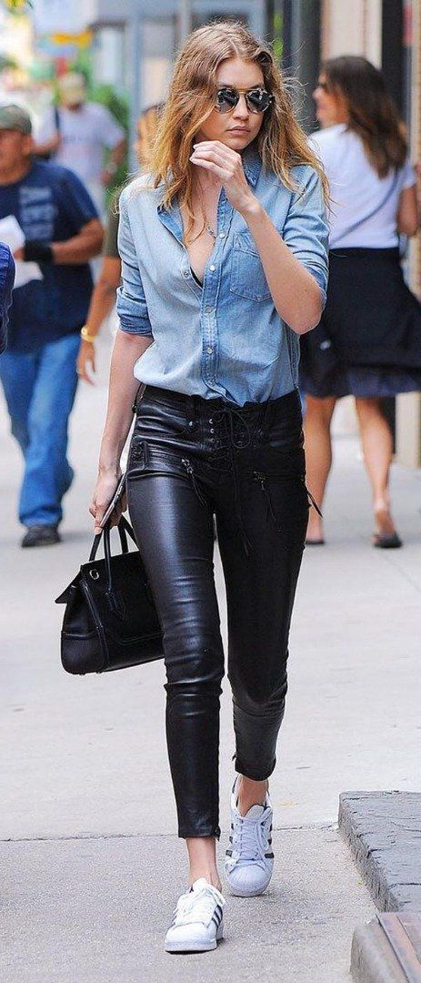 How to wear leather pants for office
