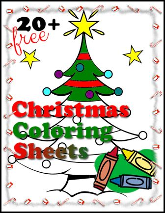 Over 20 Free Christmas Coloring Sheets