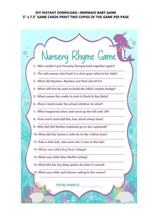 Mermaid Nursery Rhyme Diy
