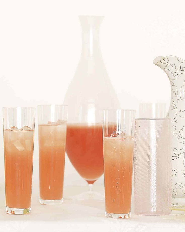 Honey Ruby Red Grapefruitade | Martha Stewart Living - For a deep-blush citrus cooler with a bubbly finish and an adult taste, add honey to red grapefruit juice and top off the mixture with a generous splash of chilled sparkling rose wine.