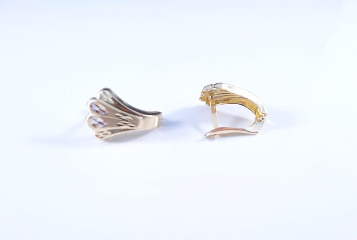 $112 14K Gold Earrings, info@bijuterie-online.ro.