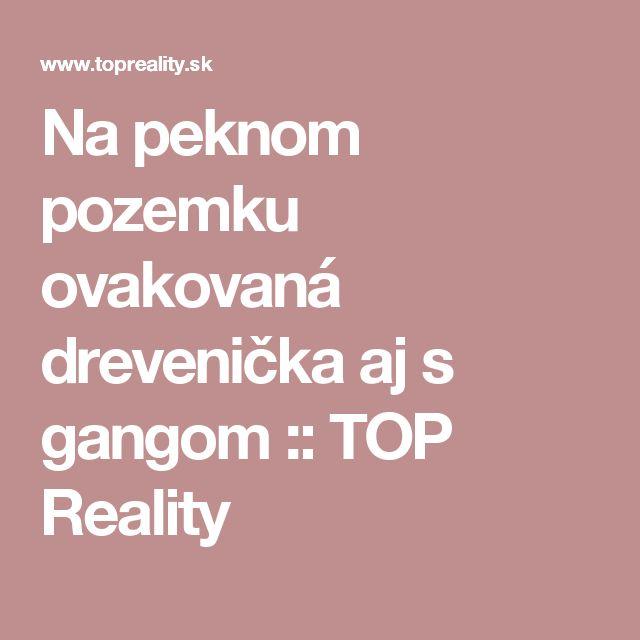 Na peknom pozemku ovakovaná drevenička aj s gangom :: TOP Reality
