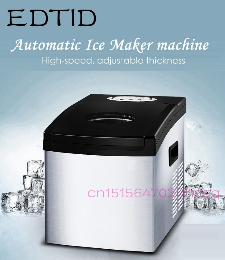 EDTID Automatic Fast Ice Maker machine Commercial Use For Bar Coffee shop Household Eletric Ice Cube Making  #Affiliate