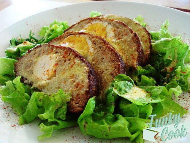 Γεμιστό Ρολό Κιμά με Αυγά και Μουστάρδα | Funky Cook