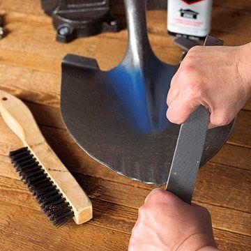 sharpening garden tools