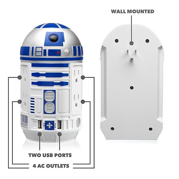 R2-D2 USB Power Station Has All The Power To Give Your Gadgets -  #power #r2d2 #starwars