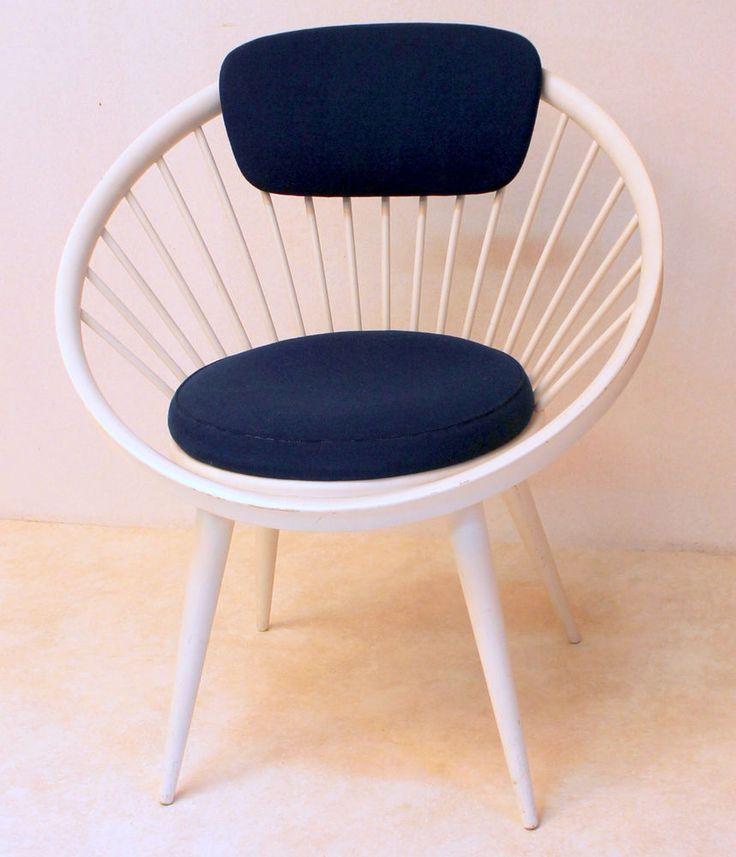 Yngve Ekström Designer Clubsessel Circle Stuhl Lounge Sessel 50er 60er  Gessef