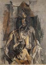 Picasso/Mujer sentada en un sillón,Óleo/lienzo, 100 x 73 cm, 1910.