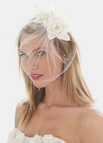 .: David Bridal, Davids Bridal, Wedding Veils, Blusher Veils, Birdcage Veils, Bridal Flowers, Bride, Birdcages Veils, Wedding Hair Accessories