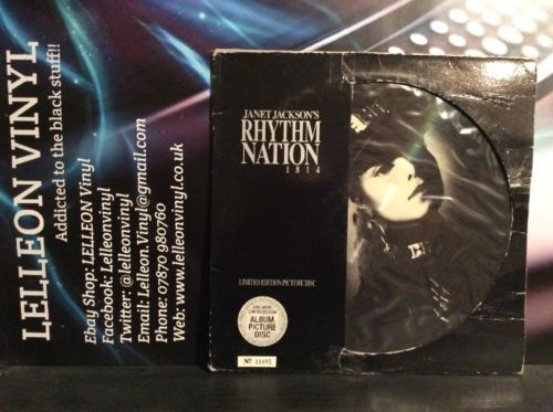 Janet Jackson Rhythm Nation 1814 Limited Edition Picture Disc No.11685 AMAP3920 Music:Records:Albums/ LPs:Pop:1980s