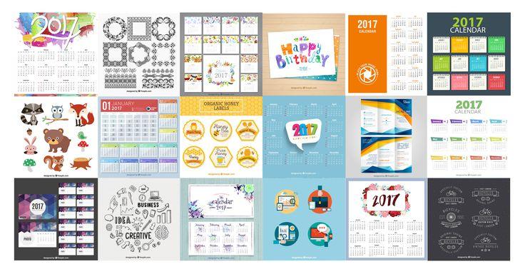 Compilation: 10 free calendar templates (Part 1)