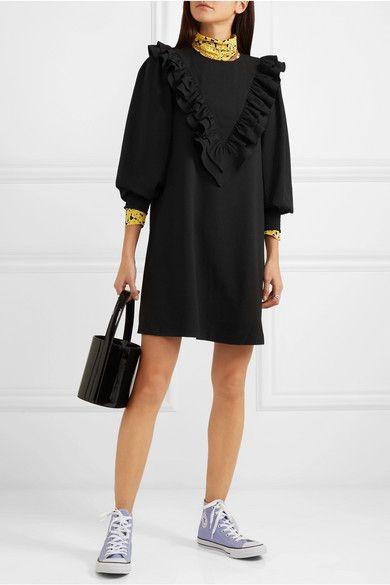 cdbc08c1 GANNI - Ruffled stretch-crepe mini dress   Runway Love   Dresses ...