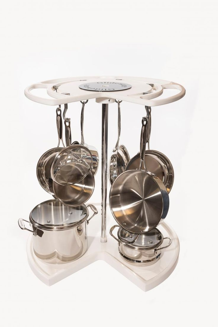 The Not-So-Lazy-Susan uses the entire corner cabinet storage from top to bottom, giving homeowners fingertip access to cookware and helping them avoid needing to stack and scratch pots and pans. The product comes with a variety of hooks in several finishes. glideware.com