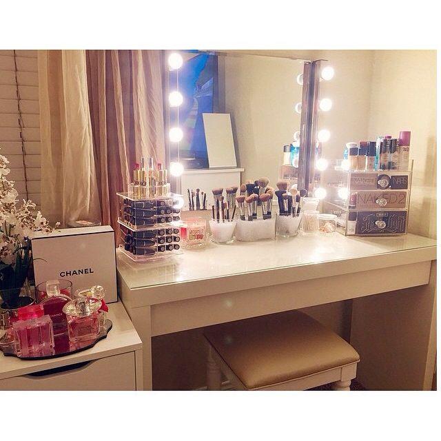 Vanity Idea 1709 best vanity/makeup station goals images on pinterest | makeup