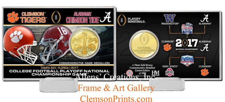ClemsonPrints - 2016/17 National Championship Game Coin - Gold or Bronze, $19.99 (http://clemsonprints.com/2016-17-national-championship-game-coin-gold-or-bronze/)