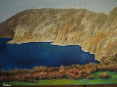 L. Alberts Painting Gallery: Slieve League Oil Painting