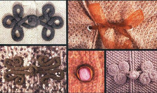 Esquemas para hacer botones y alamares tejidos