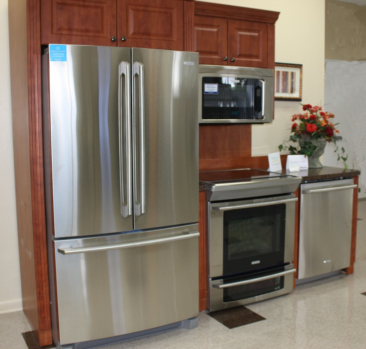 Electrolux Stainless Steel Appliances in our Ft Myers Store.  www.home-tech.com  #stainless steel