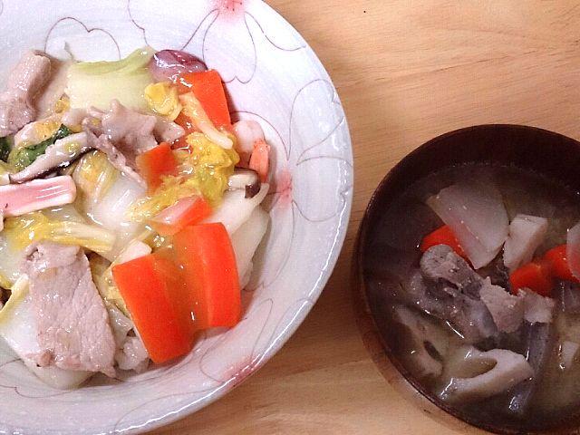 具がたくさ~ん(^o^)v - 0件のもぐもぐ - 中華丼&豚汁 by ken04