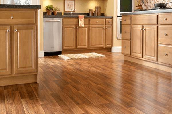 Laminate floor tiles for kitchen