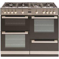 belling db4 100gt 100cm wide gas range cooker stainless steel