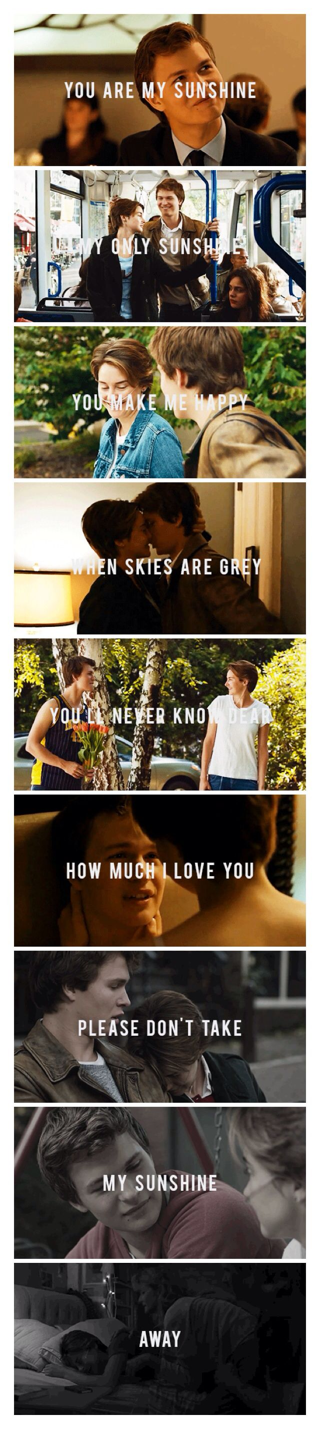 Augustus Water and Hazel Grace in The Fault in our Stars movie